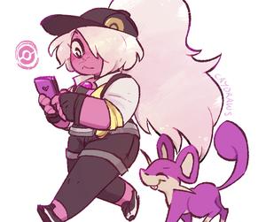 amethyst, pokemon, and long+hair+ image