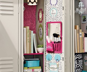 locker, school, and girly image