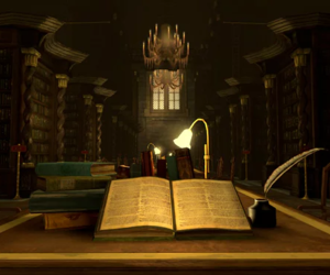 hogwarts and library image