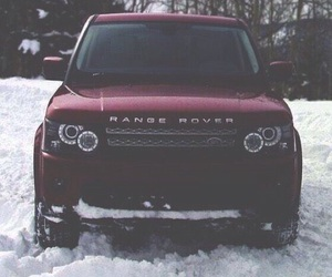 car, bordeaux, and range rover image