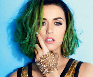 katy perry and green hair image