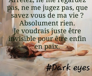 alone, trop beau, and dark eyes image