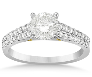 engagement rings and two row engagement rings image