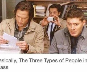 supernatural, funny, and school image