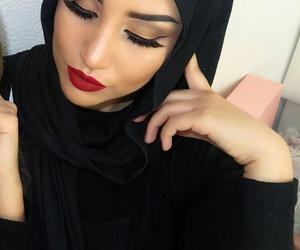 black, اسود, and lipstick image
