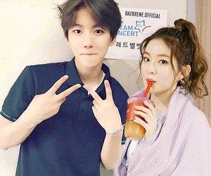 exo, irene, and baekhyun image