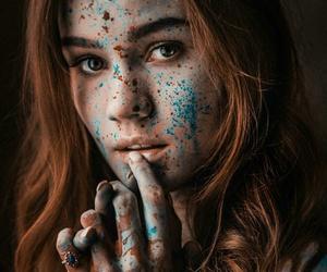 colourful, pretty, and redhead image