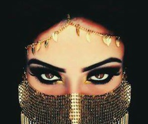 arab, beauty, and painting image