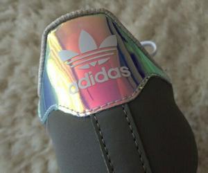 adidas, shoes, and hologram image