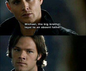 dean winchester, lucifer, and michael image