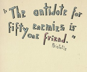 friend, quote, and aristotle image