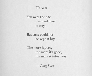 time, quote, and Lang Leav image