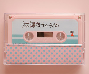 pink, aesthetic, and cassette image