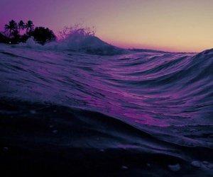 purple, beach, and sea image
