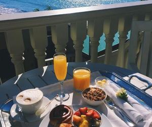 breakfast and sea image