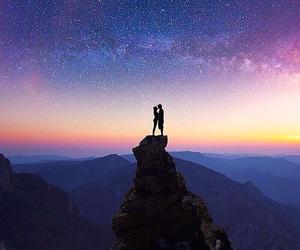 couple, sky, and stars image