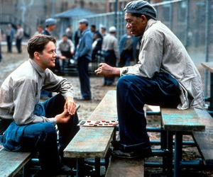 morgan freeman and the shawshank redemption image