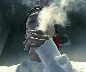 asian, boy, and smoking image