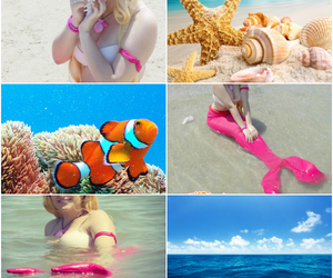 Collage, cosplay, and mermaid image