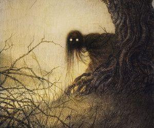 creepy, dark, and Darkness image