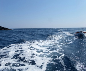 boot, thassos, and Greece image