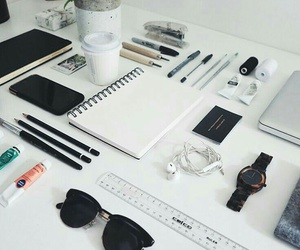 school, study, and white image