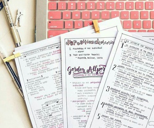 study, school, and notes image