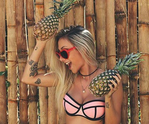 cool, girl, and pineapple image