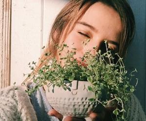 girl, plants, and green image