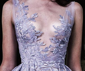 detail, haute couture, and purple image