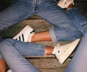 adidas, denim, and converse image