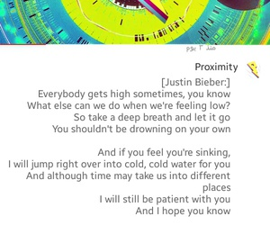 Lyrics and justin bieber image