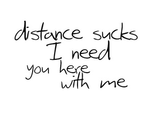 distance, quote, and text image