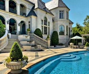 pool, house, and luxury image