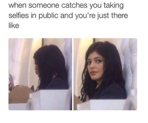 funny, selfie, and kylie jenner image