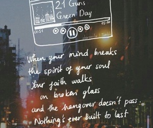 green day, 21 guns, and Lyrics image