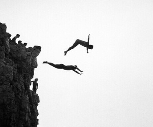 black and white, boys, and jump image
