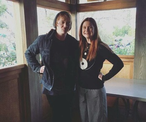 bonnie wright, rupert grint, and harry potter image