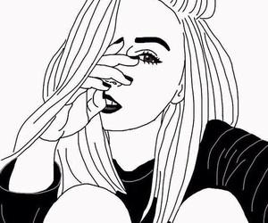 girl, drawing, and grunge image