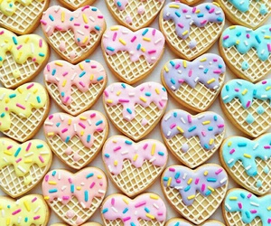 cookie, icecream, and heart image