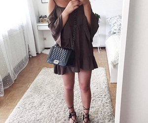 chic, purse, and dress image