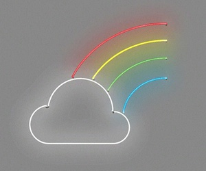 rainbow and cloud image