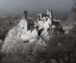 castle, derelict, and france image