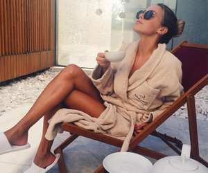 girl, hotel, and relax image