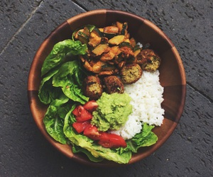 bowl, food, and lettuce image