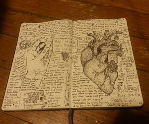 art, creative, and journal image
