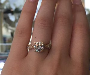 gold, wedding rings, and gold engagement rings image