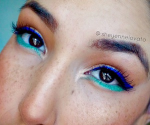 beauty, makeup artist, and winged liner image