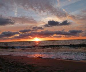 beach, holidays, and sky image