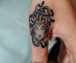 make up, tattoo, and medusa image